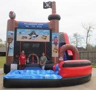 18ft Pirate Bounce House Slide Combo w Pool