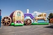 Princess Carriage Bounce House Slide