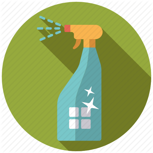 Household cleaner spray bottle icon