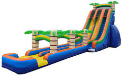 24' Tropical Splash Dual Lane Water Slide