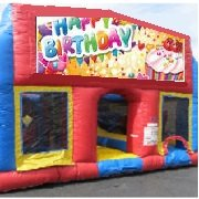 Happy Birthday 70 Foot Obstacle Wrap Around Maze