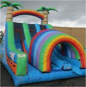 Tropical Rainbow Dual Funnel Slide (Dry)