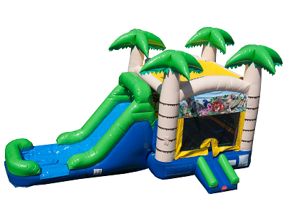 Tropical Bounce & Water Slide Combo #2