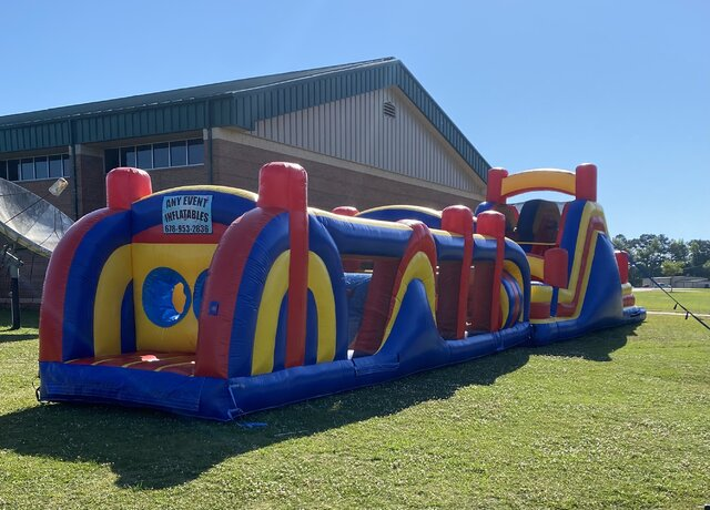 70 ft Obstacle Course with Slide