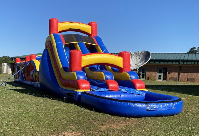 80 Ft Obstacle Course with Waterslide