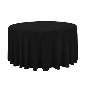 120-Black Table Cloth- 60
