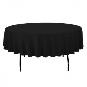 90-Black Table Cloth- Round (Lap)