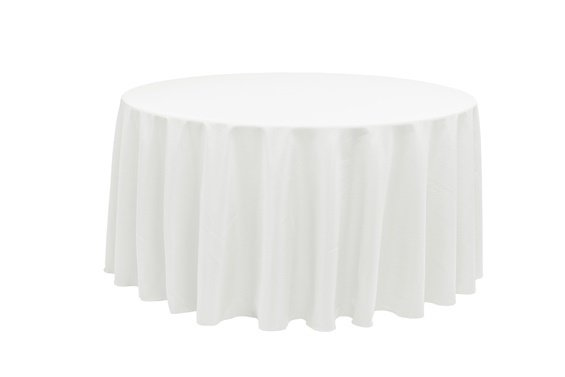 120-White Table Cloth- 60
