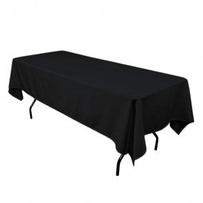 102-Black Table Cloth- 6 ft. Rect. (Lap)