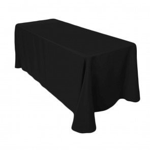 132-Black Table Cloth- 6 ft. Rect. (Floor Drop)