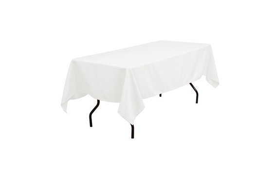 102-White Table Cloth- 6 ft. Rect. (Lap)