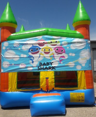 Baby Shark Bounce House w/Goal