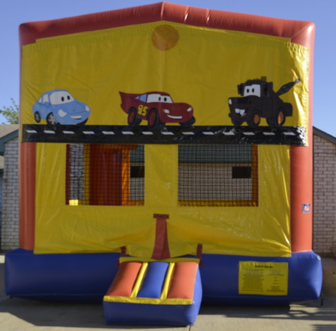 Cars Panel Bounce House w/Goal