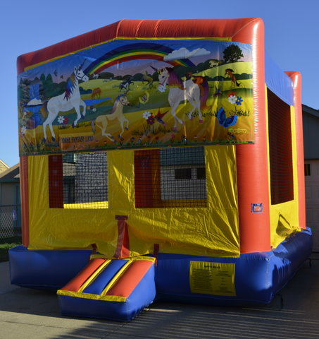 Horse Fantasy Land Panel Bounce House w/Goal