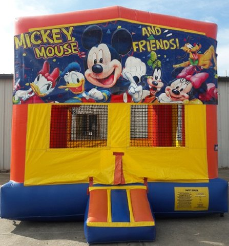 Mickey & Friends Panel Bounce House w/Goal
