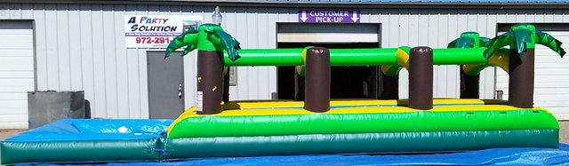 36 ft. Double Lane Slip N Slide with Pool