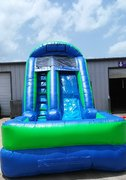 14 ft. Lime Water Slide w/Pool