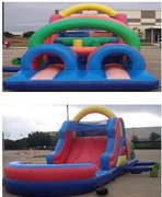 Obstacle Course w/ 13 ft. Slide- 40 ft.