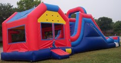 4in1 Bouncer, Climb, Slide & Goal