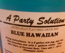 Frozen Drink- Blue Hawaiian Mix