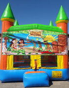 Luau Bounce House w/Goal