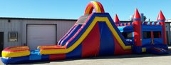 Obstacle Bounce House w/ 18 ft. Double Lane Slide