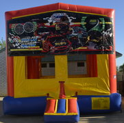Stock Car Panel Bounce House w/Goal