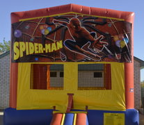Spiderman Panel Bounce House w/Goal