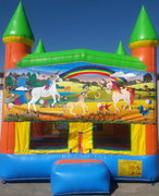 Unicorn Bounce House w/Goal