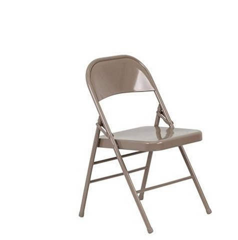 Folding Chair- Tan Metal