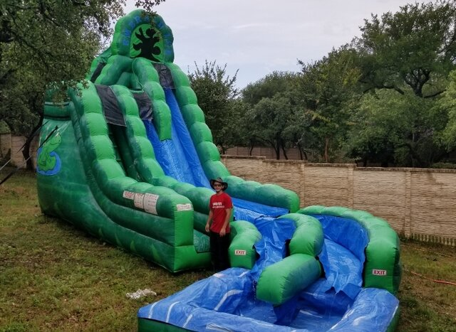 Freaky Frog Water Slide