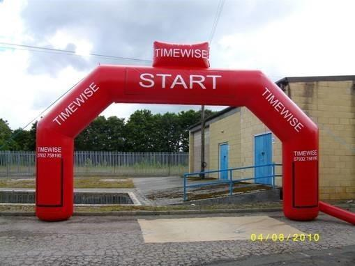 Infltable arch - Start Finish