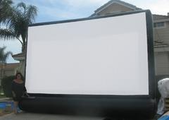 Inflatable movie party package 16' X 9' screen