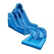 Blue Ice Double Lane Water Slide