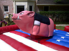Mechanical bull - Harley the Hog - american flag (includes 1 operator)