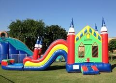 Wavy Castle Combo Water Slide