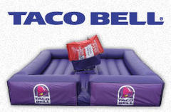 custom blue bull bed - similar to taco bell bed