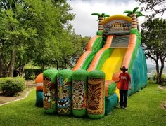 Luau water slide