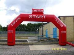 Inflatable arch - Start Finish
