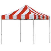 8'x8' carnival tents (red and white)