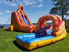 27' Lava twist water slide