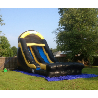 18ft Black and Gold Water Slide