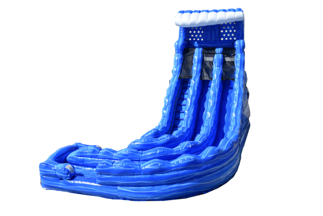 22ft Blue Hurricane Water Slide