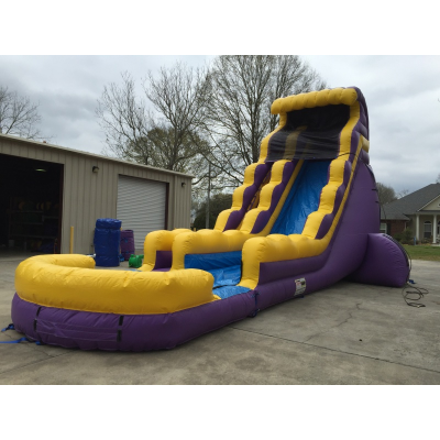 22ft Purple and Gold Water Slide