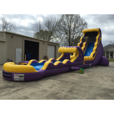 22ft Purple and Gold Water Slide w Slip n Slide