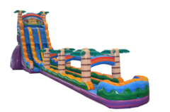 27ft Tiki Plunge Double Lane w/ Slip-n-slide