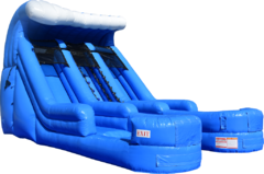 16' Double Splash Water Slide