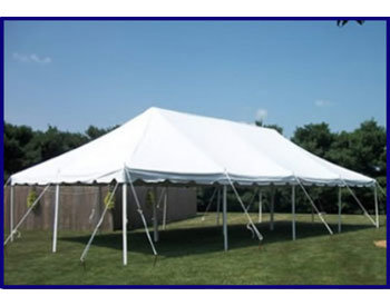 20x40 Party Tent Package with Tables and Chairs