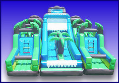 Aqua Extreme Obstacle Course with Water Slide