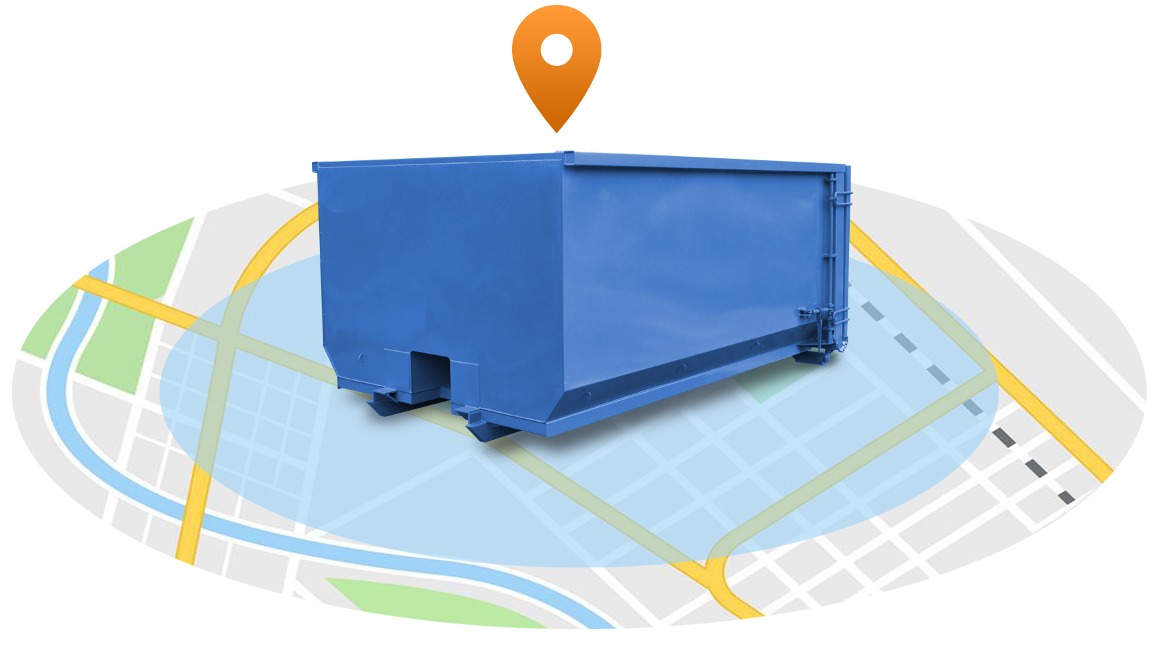 Atlantic disposal dumpster rental service area